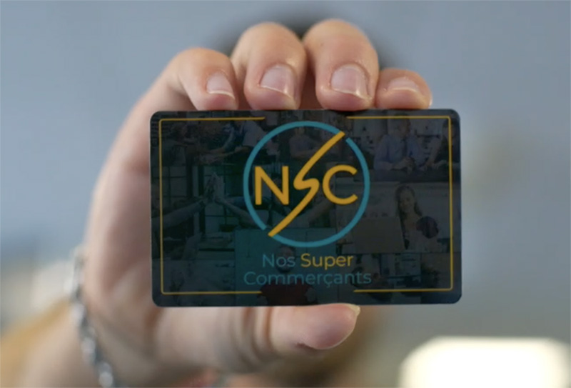 Carte nsc nos super-commercants